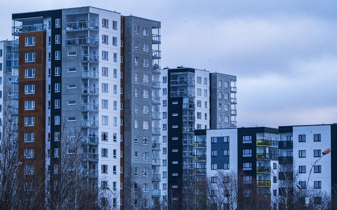 Apartment buildings in Tallinn.