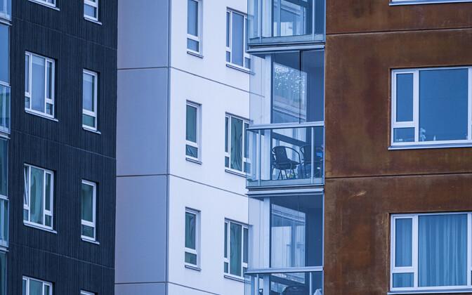 Новые многоквартирные дома.