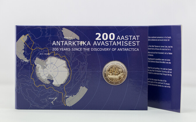 Bank of Estonia's new Antarktika coin.