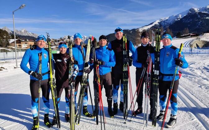 Eesti murdmaa- ja laskesuusatamise veteranide koondis Austrias Innsbruckis