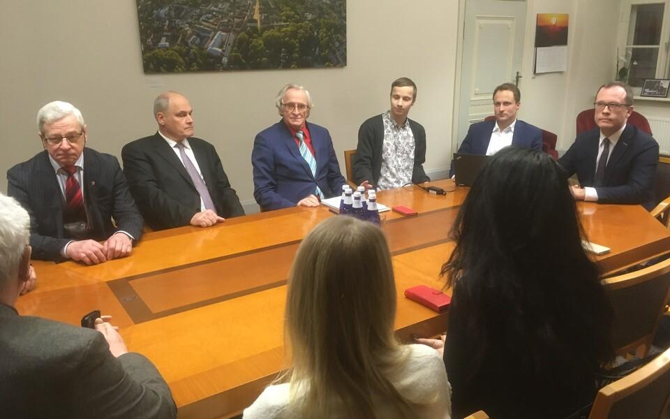 Собрание фракций центристов и реформистов в Тартуском горсобрании.