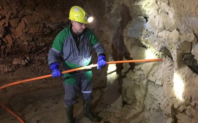 Estonia kaevanduse tööd. Lõhketööde ettevalmistus.
