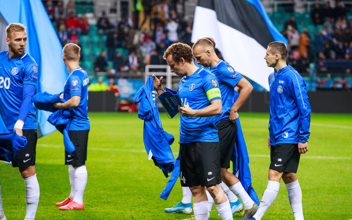 Сборная Эстонии по футболу.