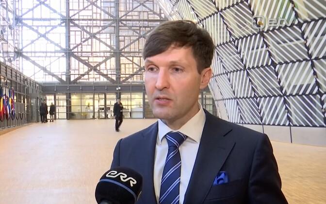 Minister of Finance Martin Helme (EKRE) in Brussels.