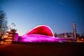 Новое постоянное освещение арки и фасада Певческого поля.