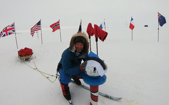Tanel Tuuleveski at the South Pole.