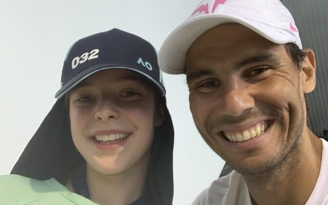 Rafael Nadal koos 13-aastase Anitaga.