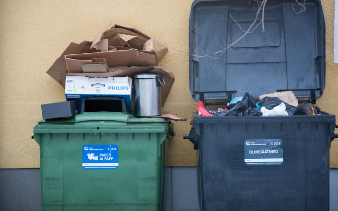 Recycling bins  (picture is illustrative).