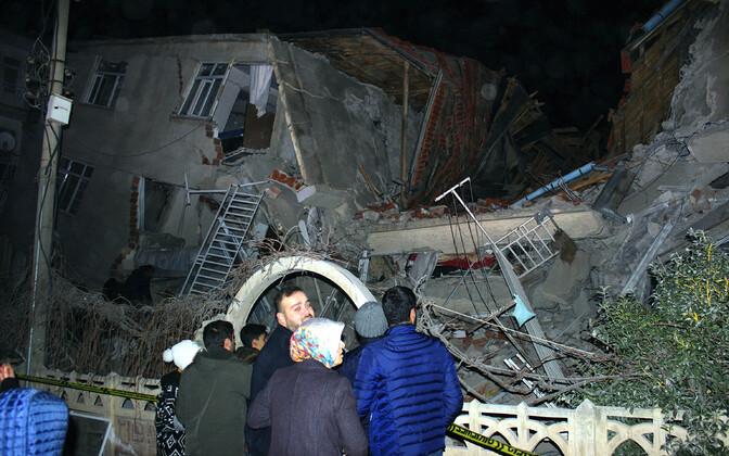 Землетрясение произоошло в районе города Сивридже (провинция Элязыг).