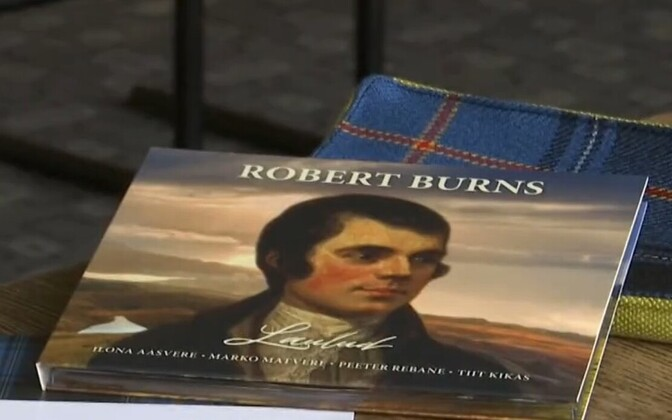 The 12-track CD of Rabbie Burns' poems, set to music and translated into Estonian, was released Sunday.