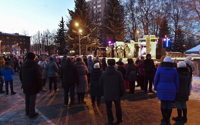 First Advent Candle lit in Narva.