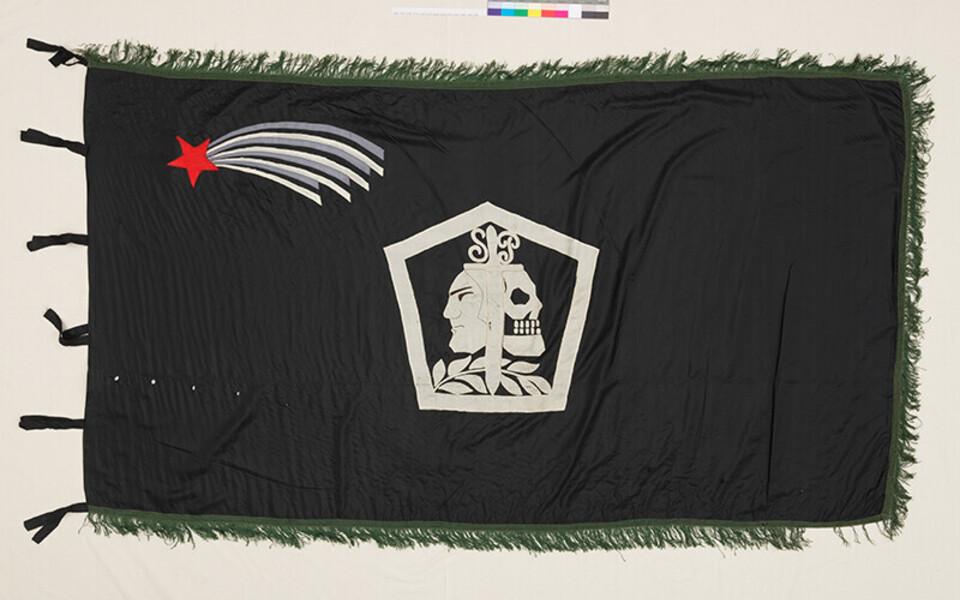 Sakala partisanide esimene lipp.