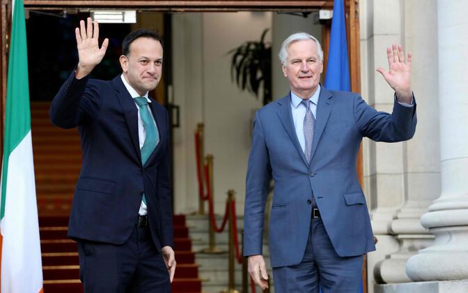 Iiri peaminister Leo Varadkar ja EL-i Brexiti-läbirääkija Michel Barnier.