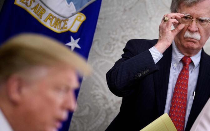John Bolton Trumpi administratsioonis töötamise päevil.