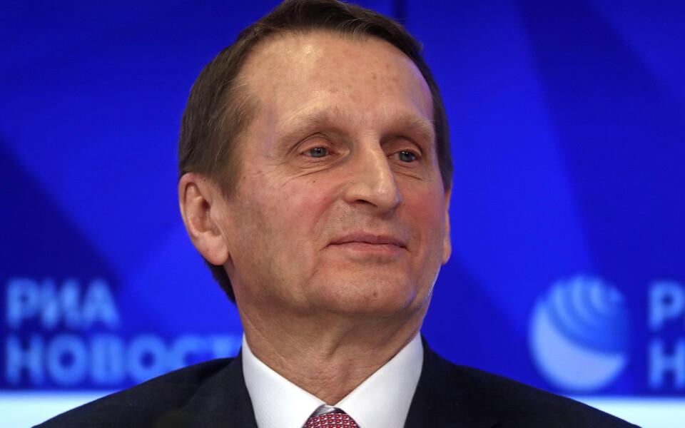 Глава российской Службы внешней разведки Сергей Нарышкин.