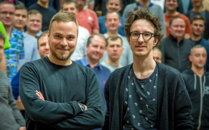 Tehnikaülikooli akadeemilise meeskoori uued dirigendid Valter Soosalu ja Heldur Harry Põlda
