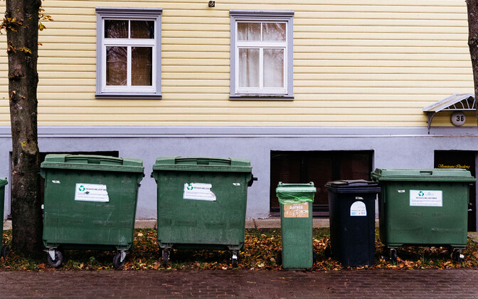 Various types of waste dumpsters.