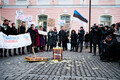 Pension reform protest at Toompea, Tallinn.