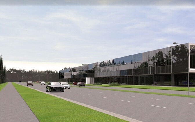 The design of the business center which will be built close to Pirita beach.