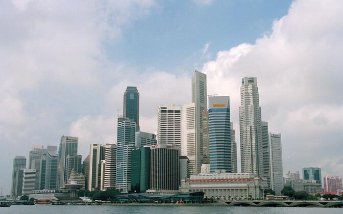 Вид на бизнес-центр в Сингапуре.