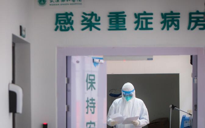 Wuhani haigla nakkushaiguste osakond.