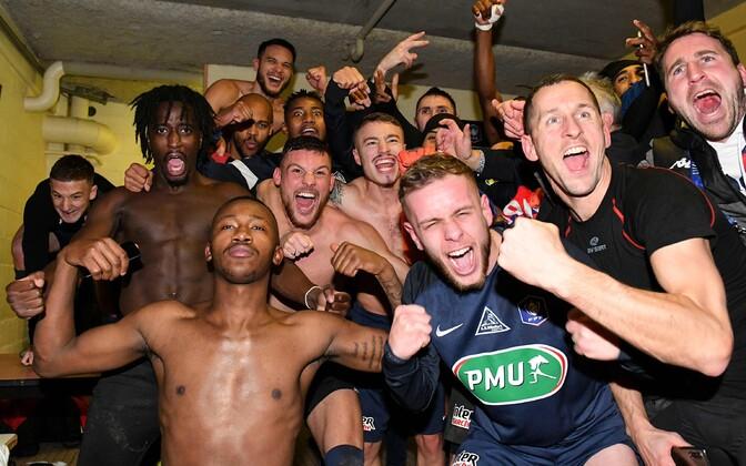 Belforti mängijad pärast Montpellier' alistamist