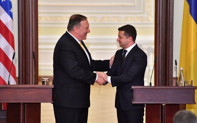 USA välisminister Mike Pompeo ja president Volodõmõr Zelenski.