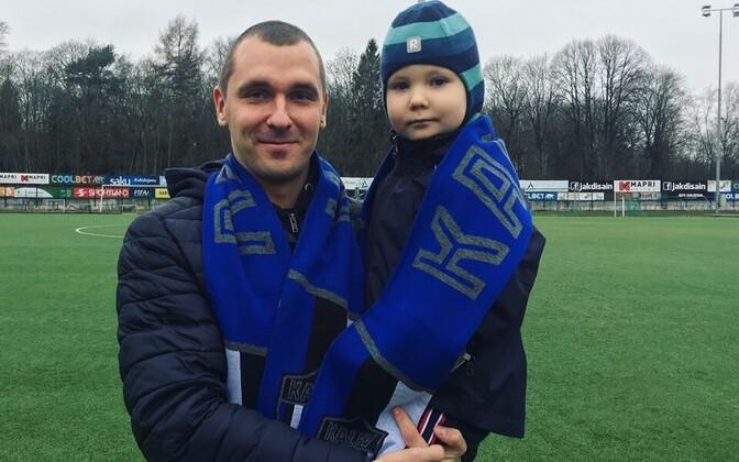Марек Кальюмяэ и его сын Маттиас.
