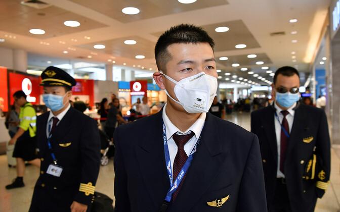 Экипаж China Eastern Airlines в аэропорту Сиднея на прошлой неделе.