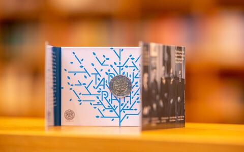 The Bank of Estonia unveiled its Treaty of Tartu centennial €2 coin on Saturday. February 1, 2020.