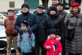 Pärgade asetamine Tallinna Reaalkooli juures.
