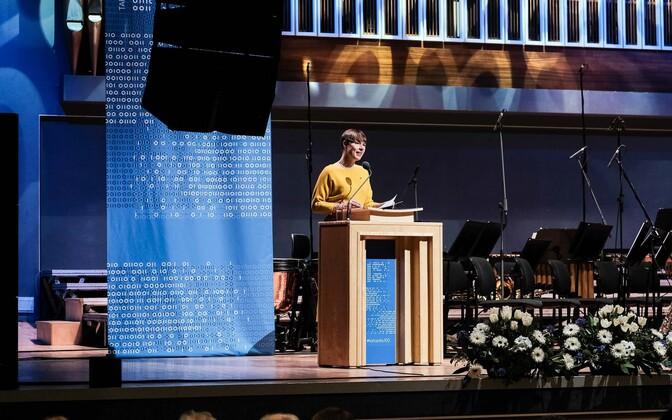Kersti Kaljulaid at Vanemuise Concert Hall in Tartu.