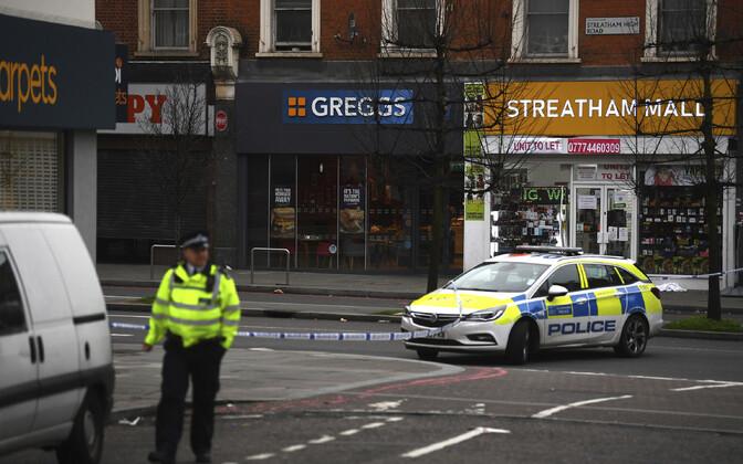 Politsei sündmuspaigal Streathamis.