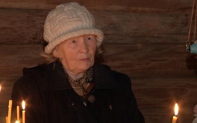 Serga village resident Eevi Linnamäe.