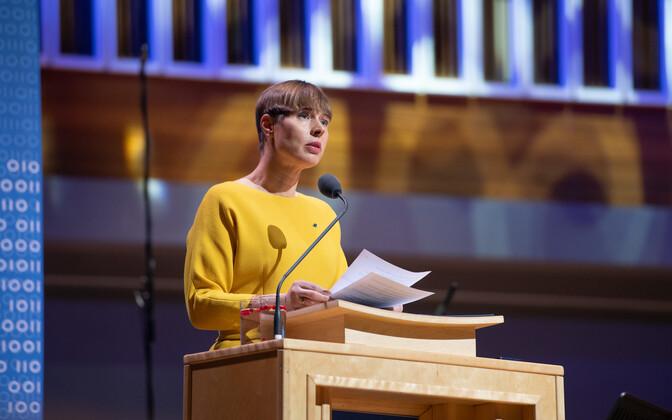 Kersti Kaljulaid at Vanemuine Concert Hall in Tartu.