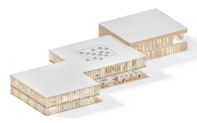 Эскизный проект Силламяэской ваналиннаской школы.