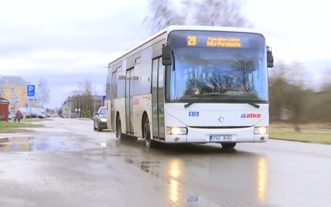 Автобус в Кохтла-Ярве.