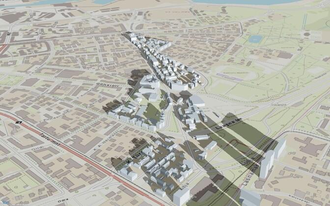 Ehitisregistrisse kerkib ka Eesti 3D mudel ehk e-kaksik, kus olemasolevate majade vahel kuvatakse ka tulevasi hooneid.