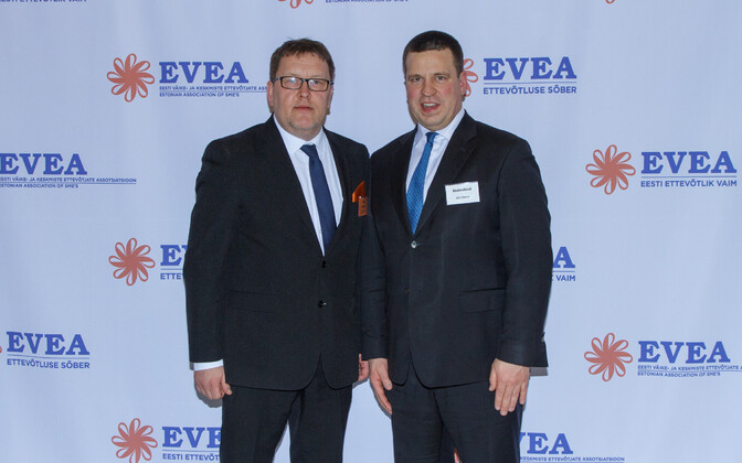 President of EVEA Heiki Rits and PM Jüri Ratas.
