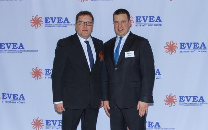 EVEA president Heiki Rits ja peaministe Jüri Ratas