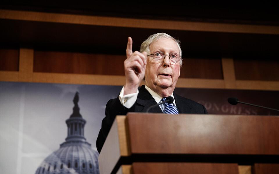 Лидер республиканского большинства в Сенате США Митч Макконнелл.