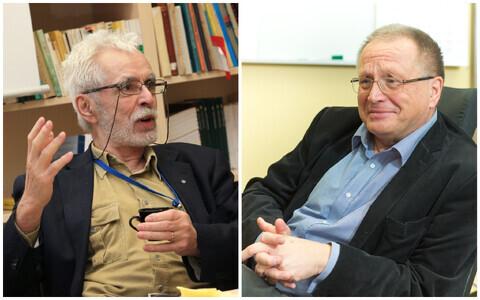 Akadeemik Richard Villems ja akadeemik Jüri Allik.