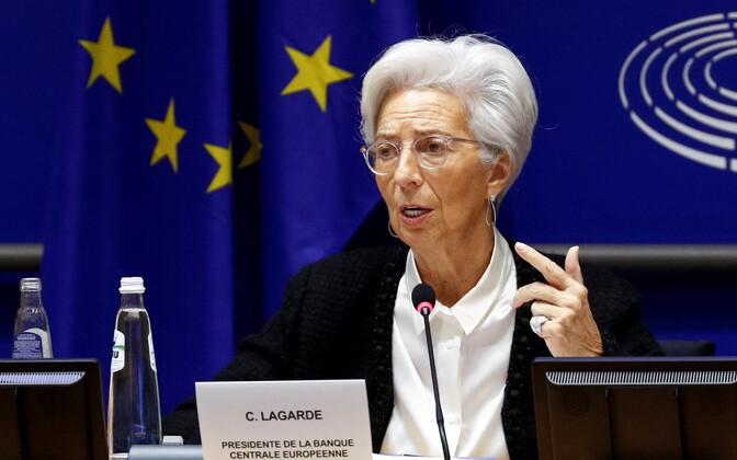 Euroopa Keskpanga juht Christine Lagarde europarlamendis.