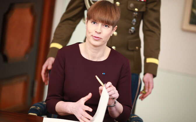 President Kersti Kaljulaid did not proclaim the pension reform law.