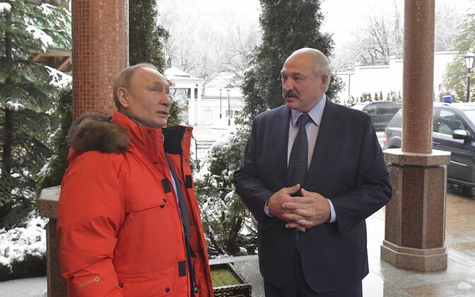 Putin ja Lukašenko 7. veebruaril Sotšis.