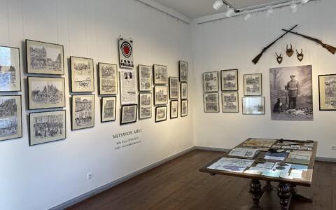 Kondase keskuses on väljas kunstnikust metsavahi Vellu Tänava tööd Tänava tööd