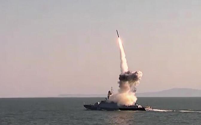 Raketi Kalibr start Vene sõjalaevalt.