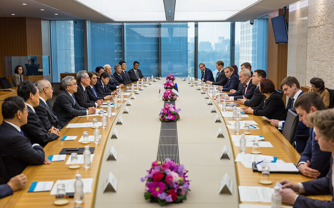 Юри Ратас находится с рабочим визитом в Японию.
