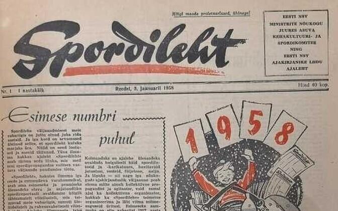 3. jaanuaril 1958 ilmus Spordilehe esimene number.