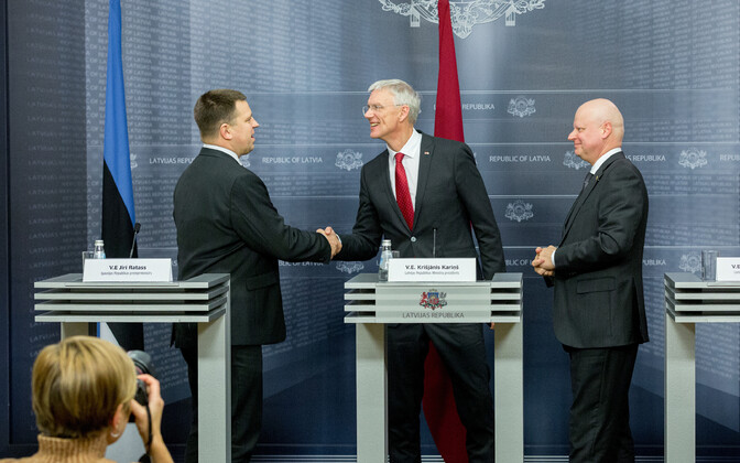 Prime ministers of all three Baltic States in Riga.